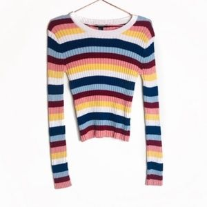 EUC Forever 21 Multicolor Striped Sweater L